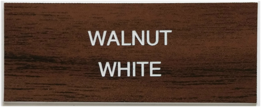 walnut_and_white_letters