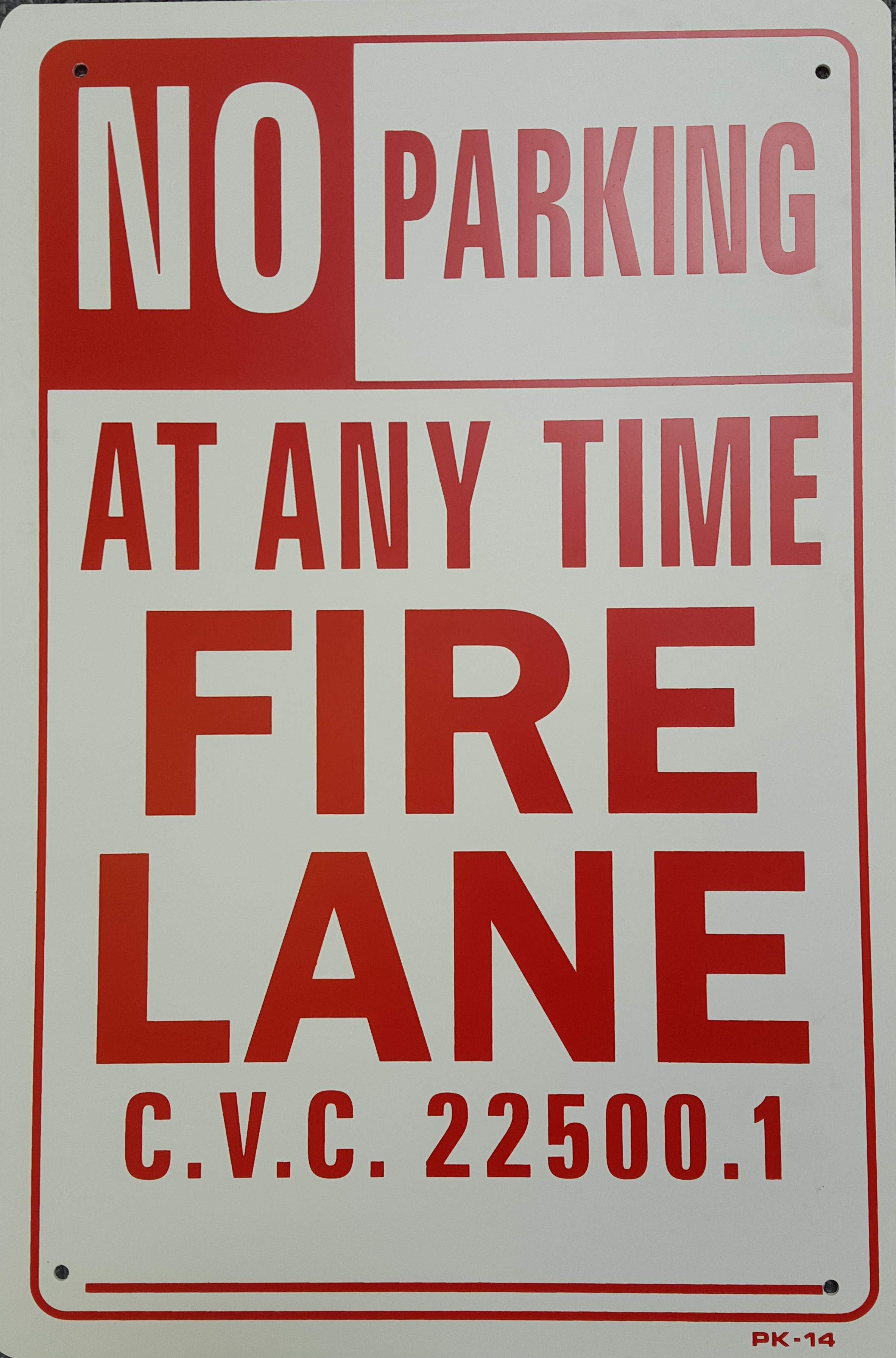 No parking Fire Lane Stock Sign