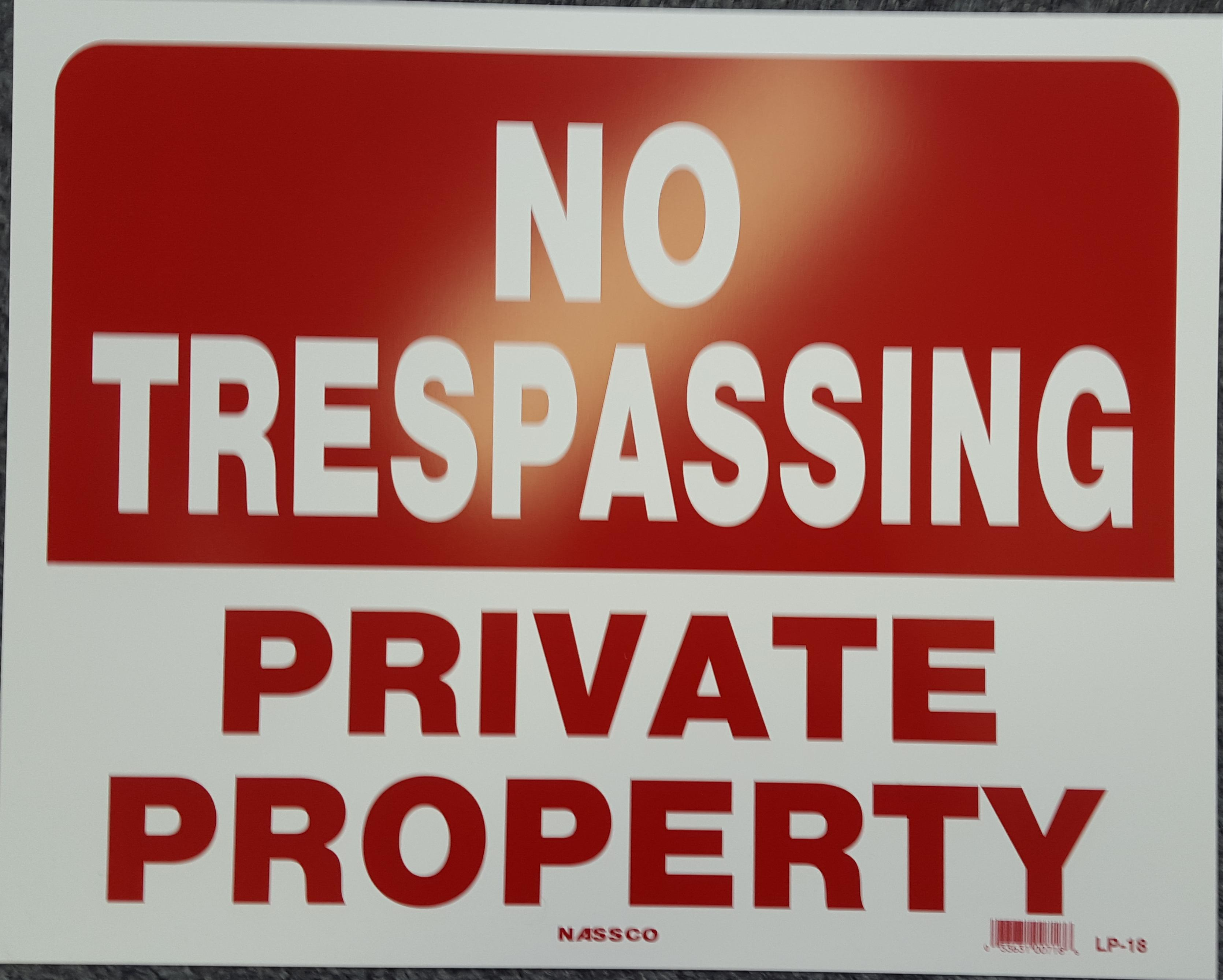 No Trespassing Stock Sign
