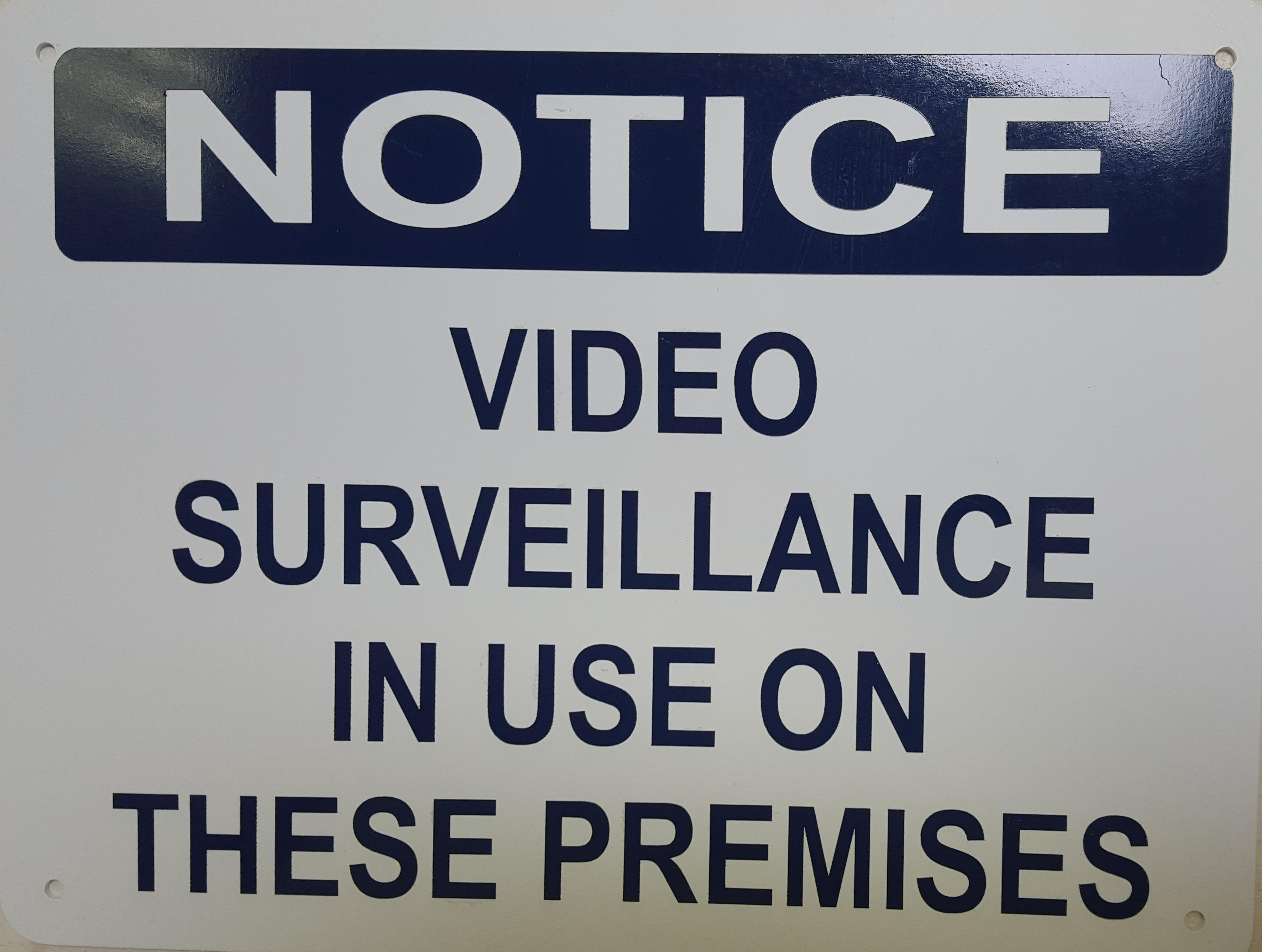 Notice Video Surveillance Stock Sign