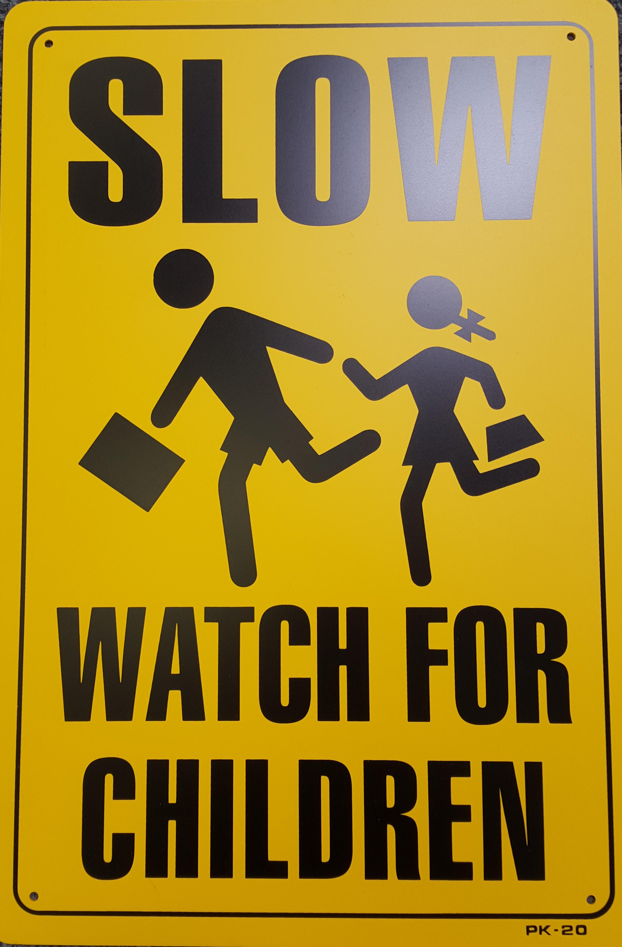 Watch For Children Stock Sign