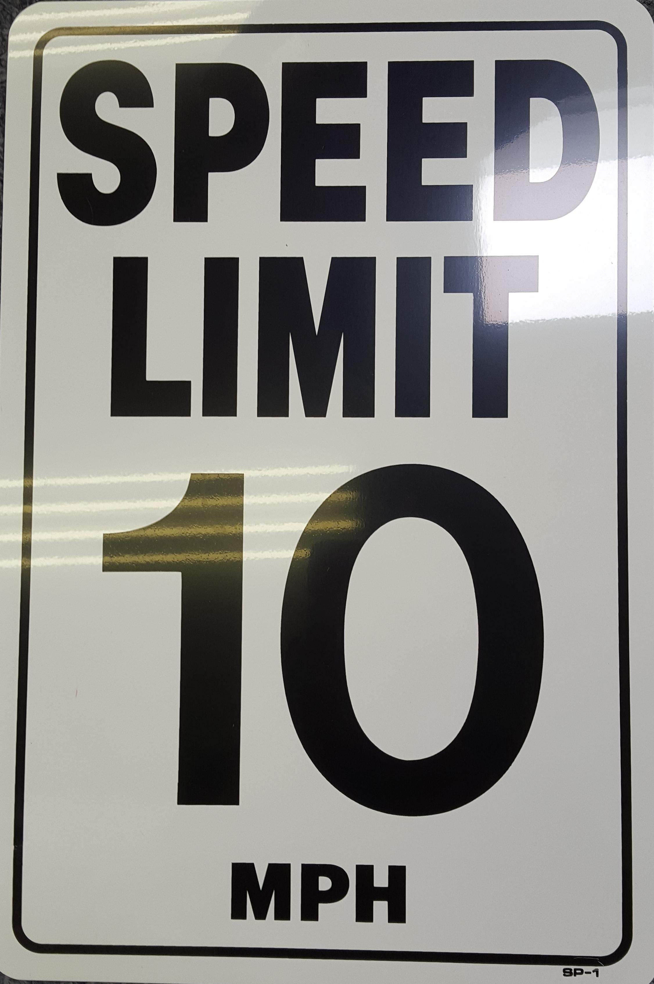 10 MPH Speed Limit Stock Sign