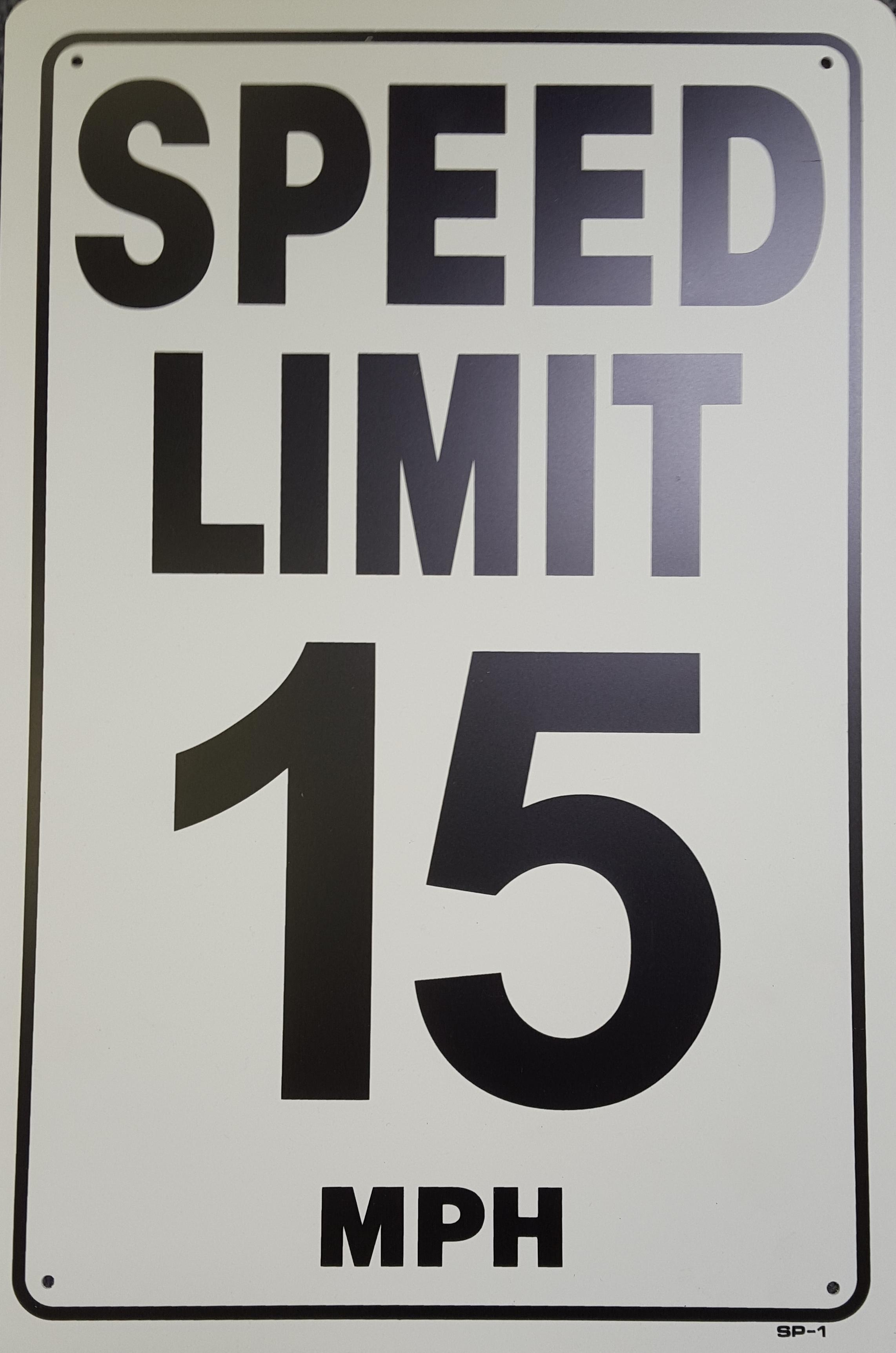 15 MPH Speed Limit Stock Sign