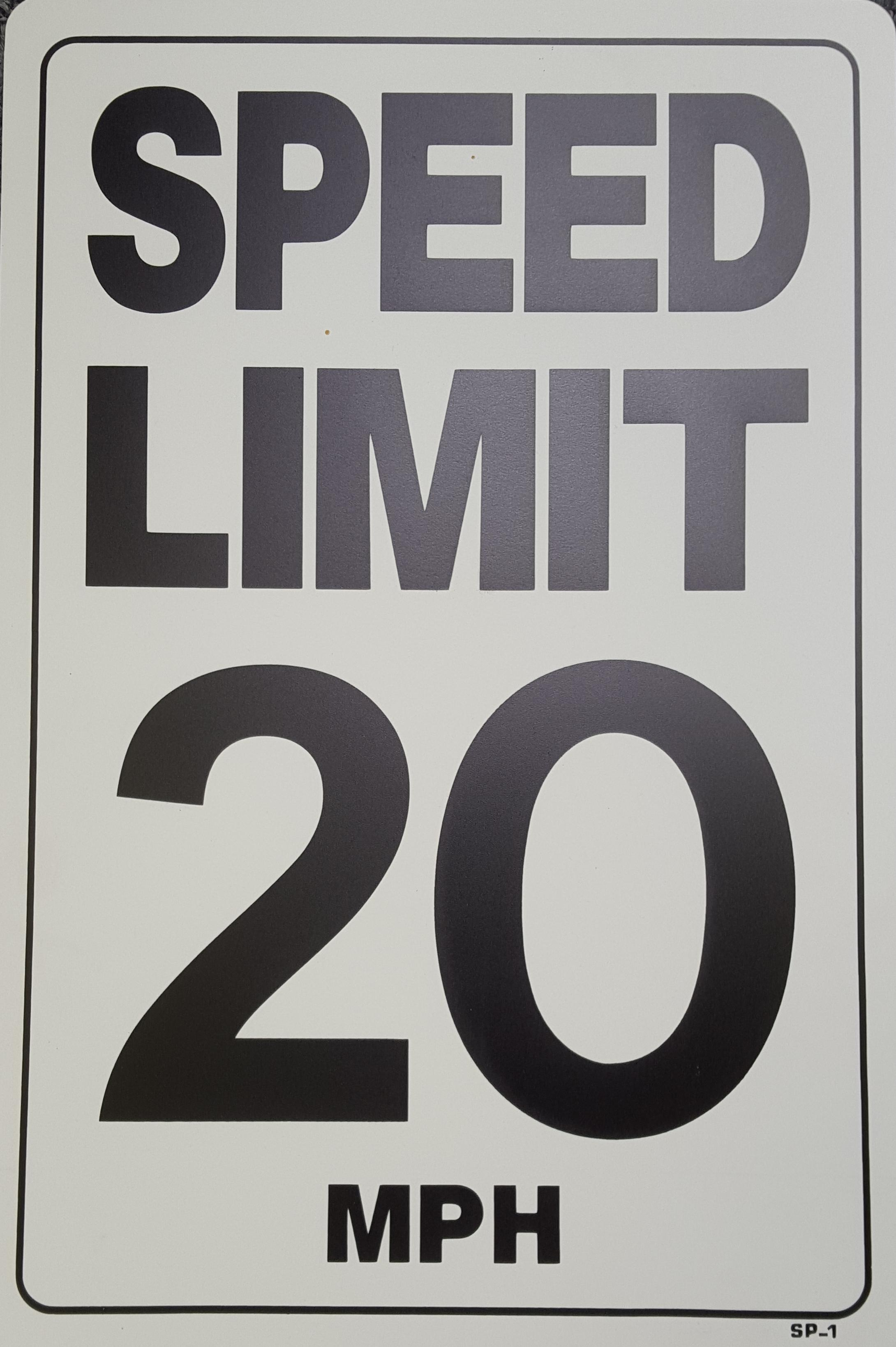 20 MPH Speed Limit Stock Sign